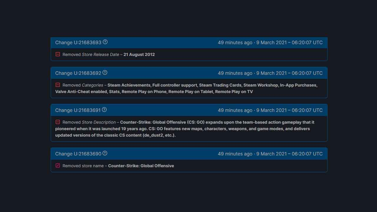 CS:GO SteamDBInfo